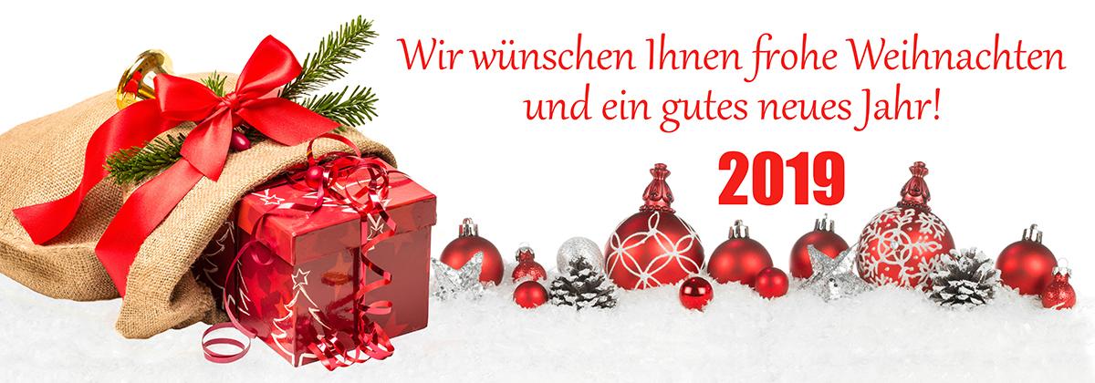 Weihnachten 2018 und Neujahr 2019